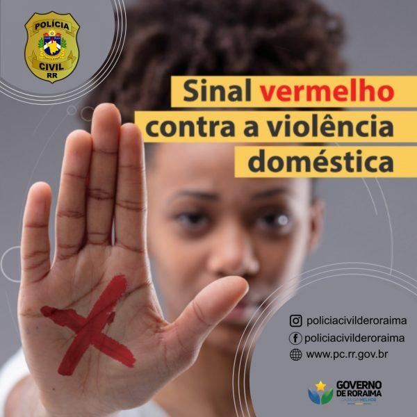 Polícia Civil de Roraima apoia campanha de ajuda às vítimas de violência doméstica   Foto: Divulgação