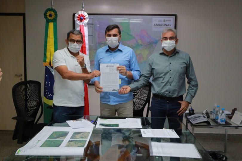 Governador do Amazonas Wilson Lima e Deputado Estadual Augusto Ferraz | Foto: Diego Peres