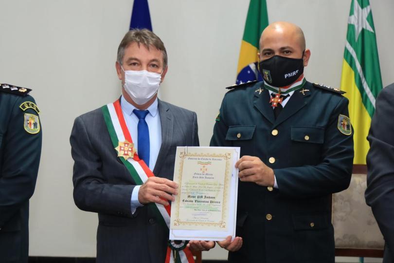 entrega da Medalha de Ordem do Mérito Forte São Joaquim