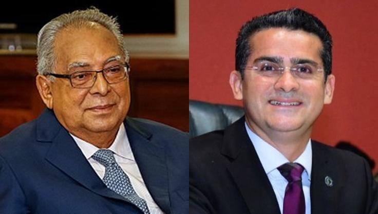 Amazonino Mendes e David Almeida   Foto: internet