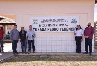 Inauguração do Escola Estadual Indígena Tuxaua Pedro Terêncio. Imagem: Secom - RR