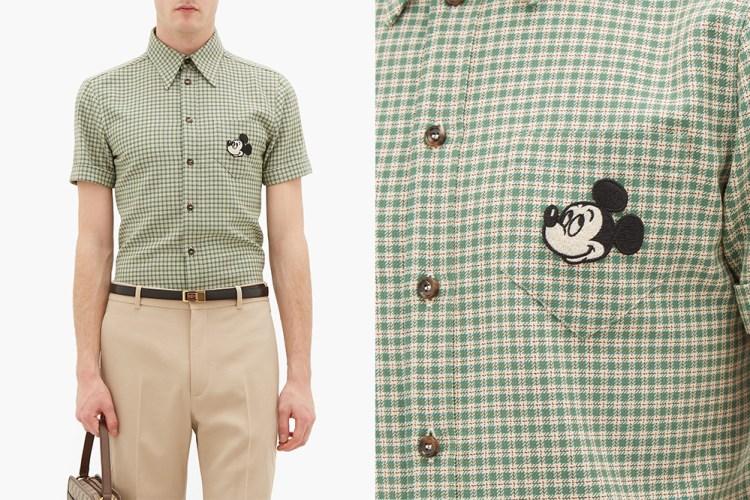 gucci mickey mouse wool shirt