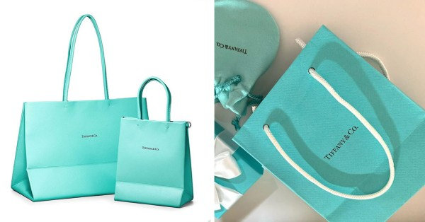 Tiffany & Co.'s New Leather Bags Look Exactly Like Its Shopping Bags So Every Day Feels Like Christmas