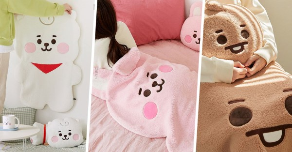 BT21 Blankets & Cushions Are Here To Keep You Warm & Cosy While You WFH