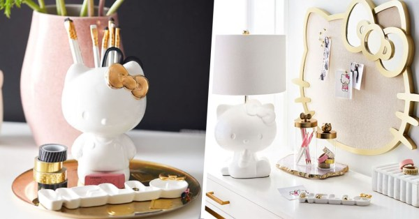 This Minimalist Hello Kitty Home Decor Collection Will Help You Keep Your Home Office Cute & Clutter-free
