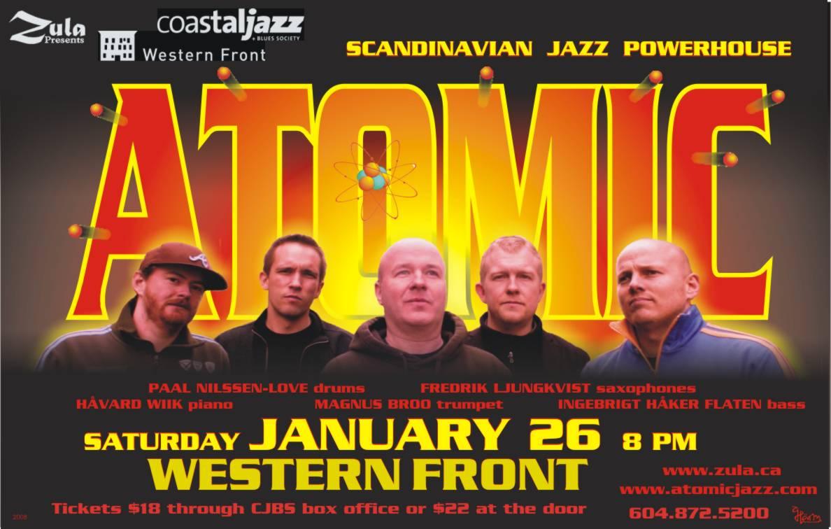Atomic South Coastal BC Tour -- 1.26-30.08 -- Vancouver - Nanaimo - Victoria - Salt Spring - Gabriola