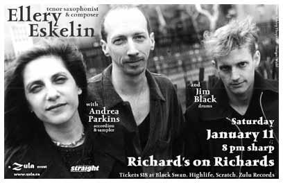 Ellery Eskelin with Andrea Parkins & Jim Black 1.11.2003 Richard's on Richard's