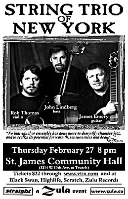 String Trio of New York -- 2.27.03 -- St. James Community Hall