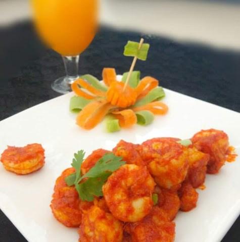 Pan Fried Shrimps ( Tawa Masala Prawns )