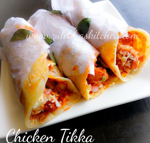 Recipe Of Chicken Tikka Cheese Frankie