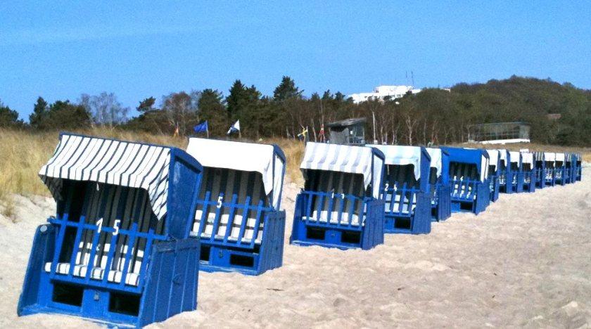 Strandkörbe am Strand von Baabe