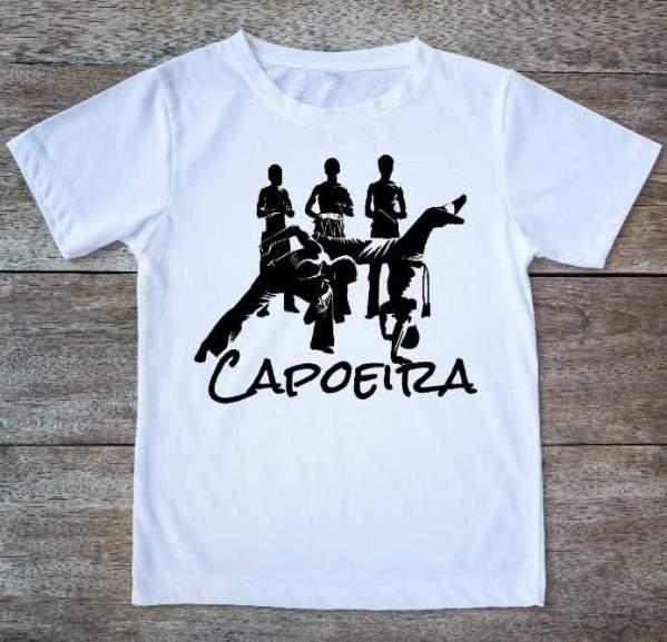 "Printed Capoeira T-Shirt - ""Loca Roda"" - Unisex Adult and Kids - ZumZum Capoeira Shop"