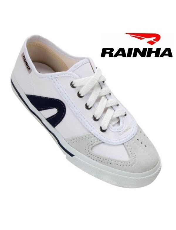 RAINHA Brazilian Capoeira & Parkour Shoes - White-Navy Blue - Unisex Adult & Kids - ZumZum Capoeira Shop