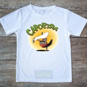 "Printed Capoeira T-Shirt - ""Capoeira Kid - Amazonas"" - 100% Cotton - Unisex Kids - ZumZum Capoeira Shop"