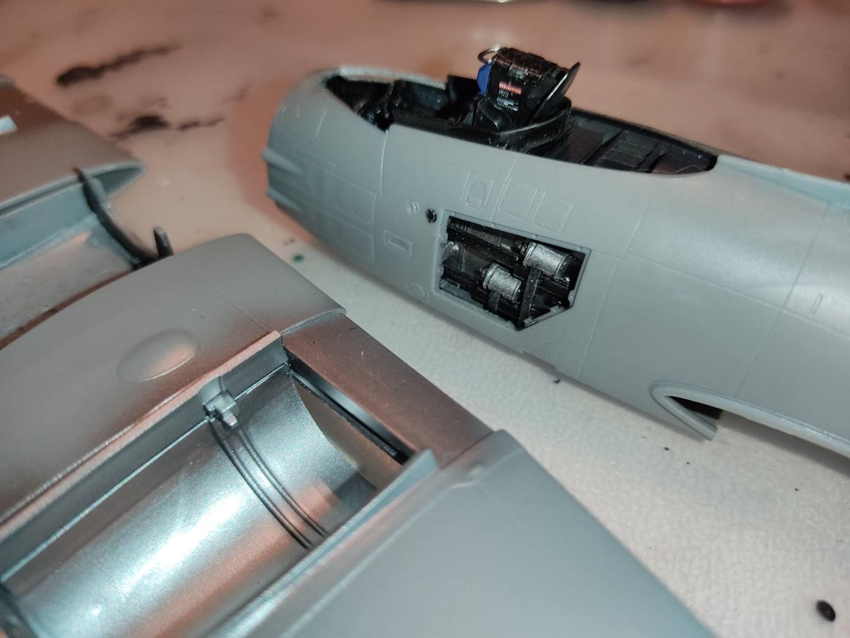 [Work-in-Progress] Airfix Gloster Meteor F.8 - A few details of the gun bay.
