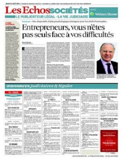Les Echos Sociétés Du Jeudi 20 Août 2015