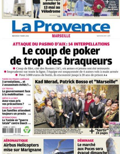 La Provence Marseille du mercredi 09 mars 2016