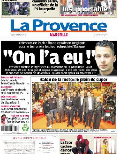 La Provence Marseille du samedi 19 mars 2016