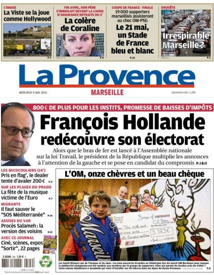 La Provence Marseille du mercredi 04 mai 2016
