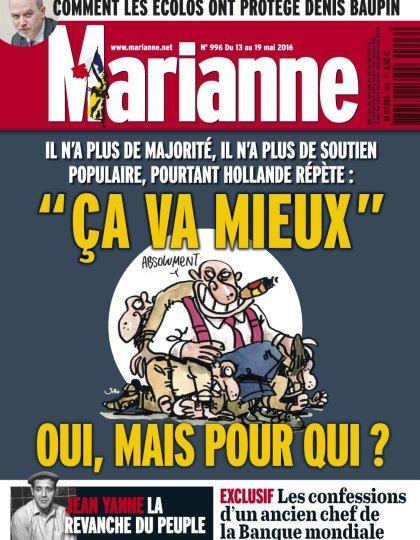 Marianne N°996 du 13 au 19 Mai 2016