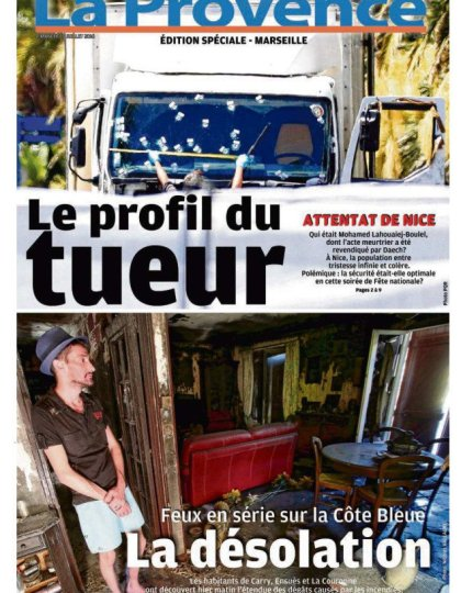 La Provence Marseille du dimanche 17 juillet 2016