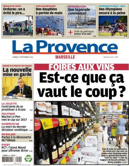 La Provence Marseille du samedi 03 novembre 2016