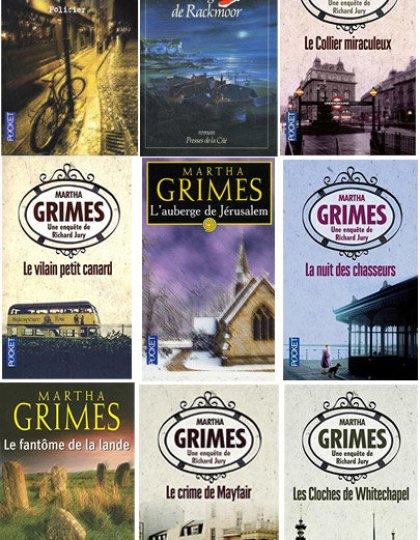 22 Livres de Martha Grimes - Commissaire Richard Jury
