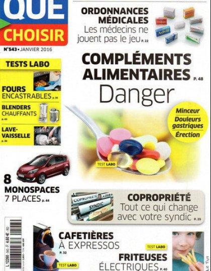 Que Choisir N°543 - Compléments Alimentaires Danger