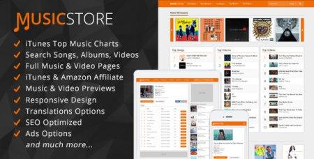 CodeCanyon - MusicStore - Music Affiliate Script