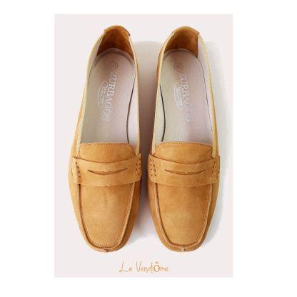 zapato plano miel