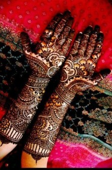 Mehendi design for sangeet