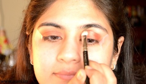 How to apply makeup - Bold red, black & purple eyes 04