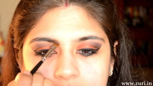 How to apply makeup - Bold red, black & purple eyes 13