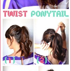 Ponytail hairstyles for long hair 18