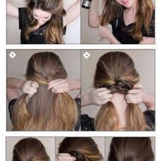 Ponytail hairstyles for long hair 19