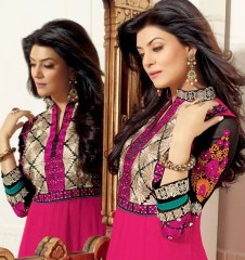 Hairstyles to wear with Pakistani salwar kameez 04