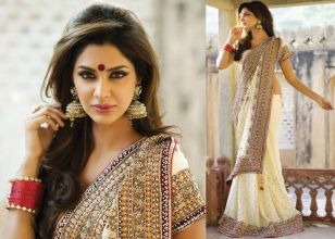 Designer sarees for Bengali bride 02