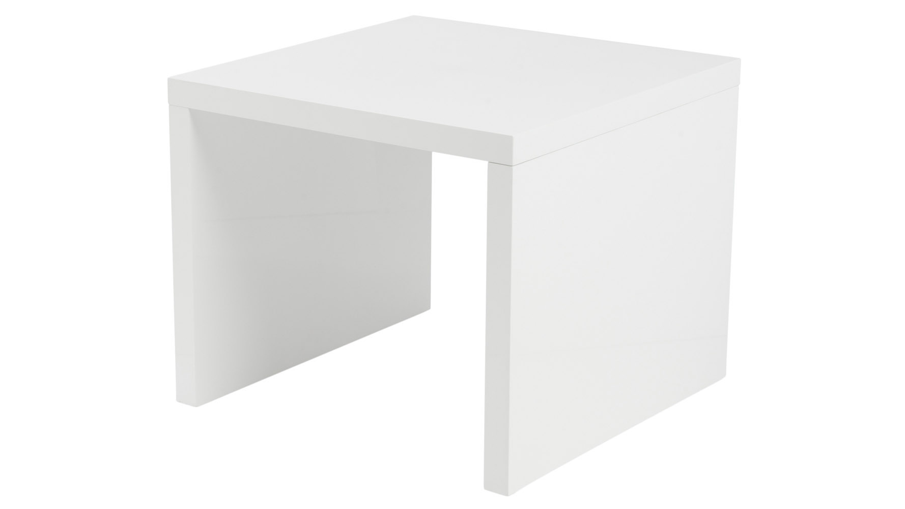 Keene High Gloss White Lacquer Side Table