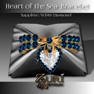Heart of the Sea Bracelet-Sapphire-White Diamond