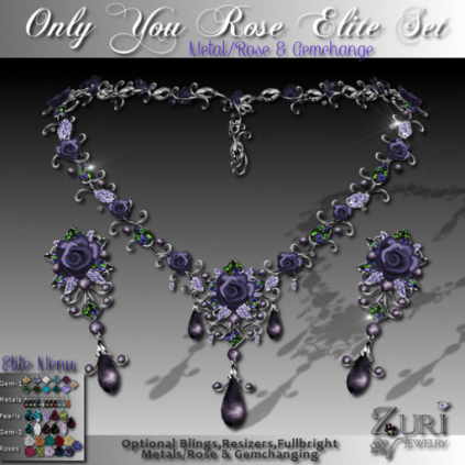 Only You Rose Elite Set-Necklace & Earrings