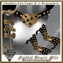 Studded Hearts Elite-Metal-Gemchange-Zuri Jewelry