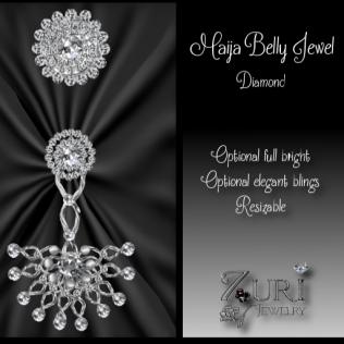Maija Belly Jewel - Diamond