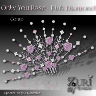 Only You Rose Comb - Pink Diamond