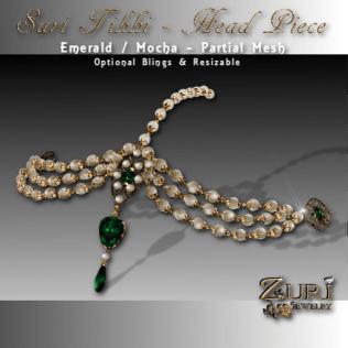 Sari Tikki-Mocha Emerald