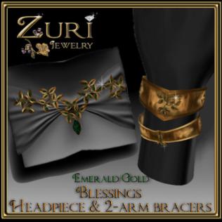 Zuri Rayna~ Blessings Ensemble Emerald-Gold
