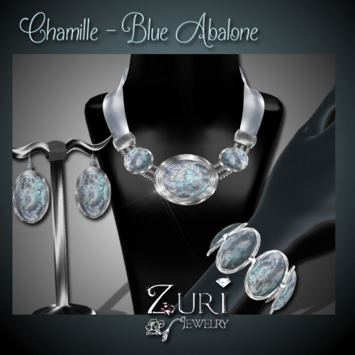Chamille Blue Abalone Set