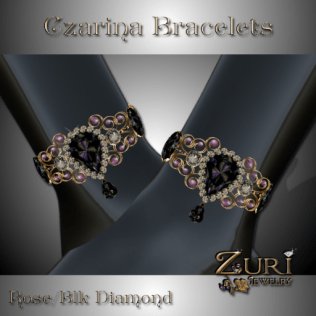 Czarina Bracelets - Rose Black Diamond