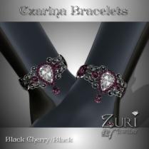 Czarina Bracelets Set - Black Cherry-Black