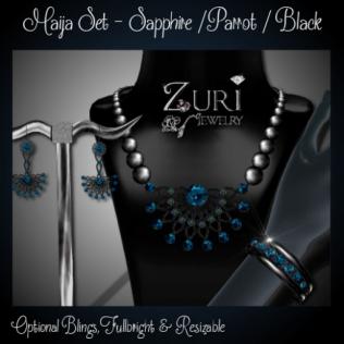 Maija Set - Sapphire-Parrot-Black