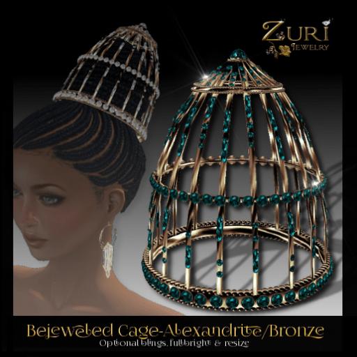 Zuri's - Bejeweled Cage-Alexandrite_Bronze